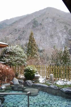2011年12月17日朝撮影 露天風呂